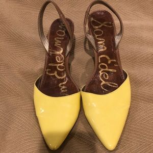 Sam Edelman patent yellow heels - size 8.5